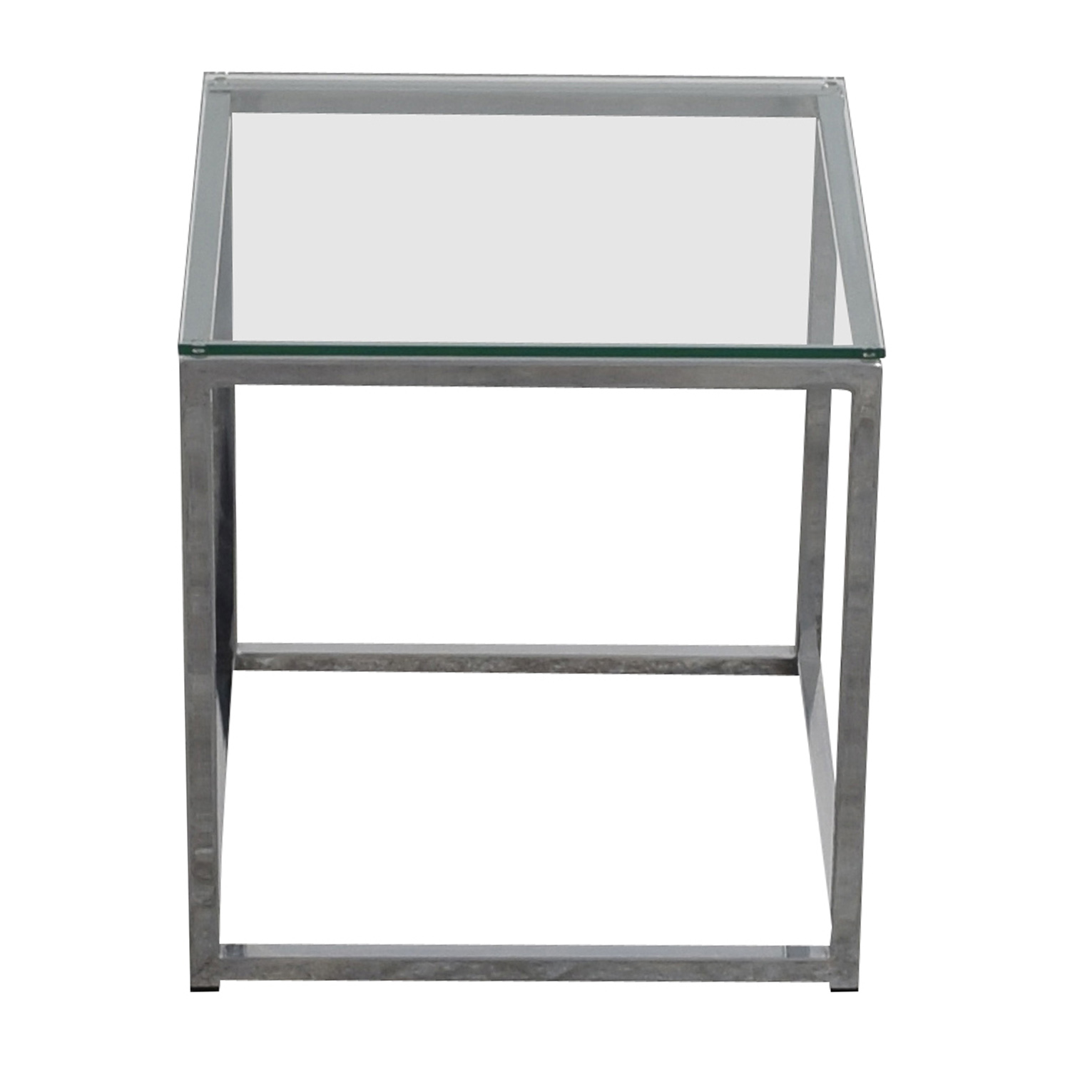 CB2 CB2 Smart Glass Top Side Table nyc