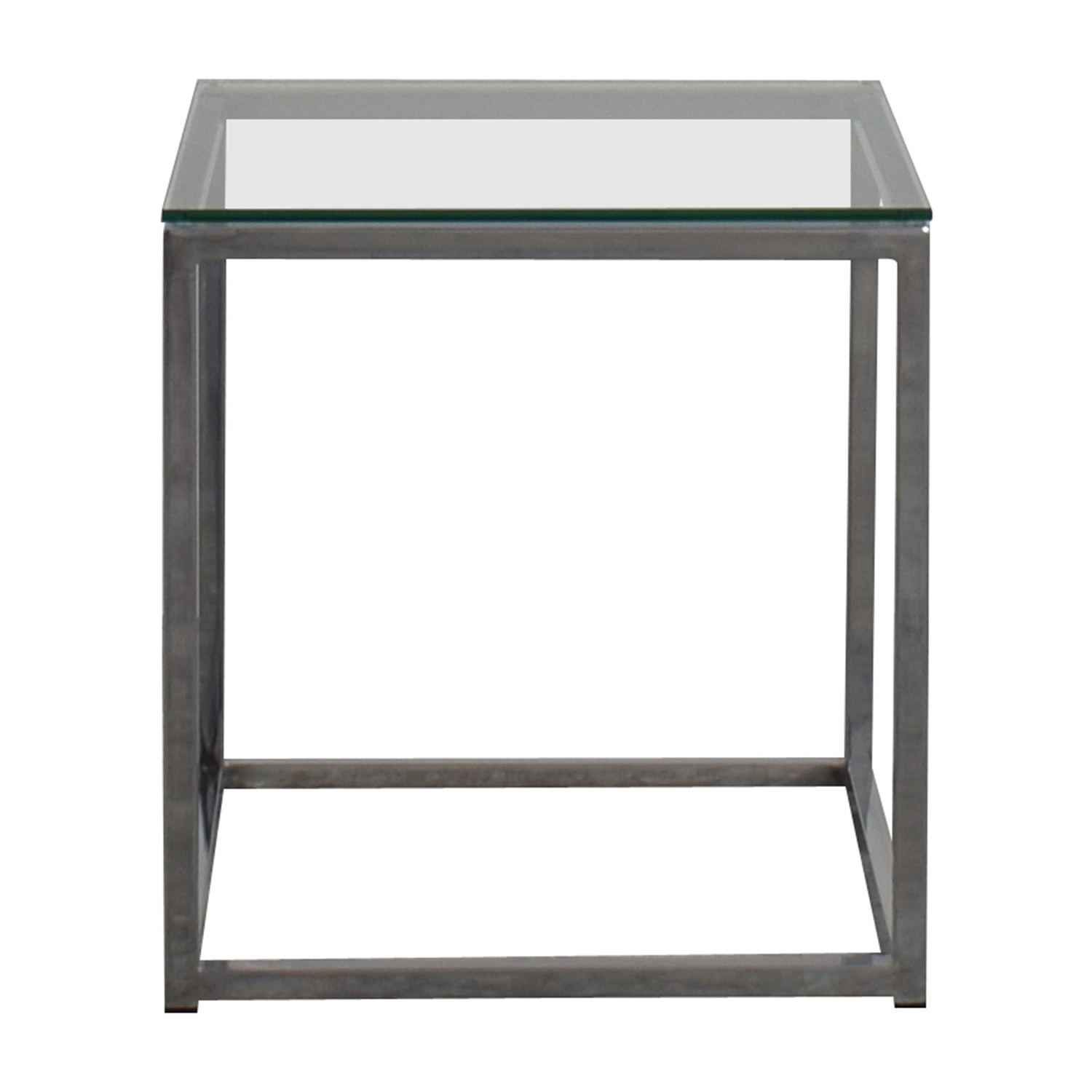 80 Off Cb2 Cb2 Smart Glass Top Side Table Tables