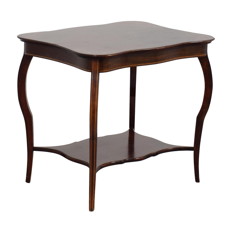 shop RJ Horner Antique End Table with Shelf RJ Horner Tables