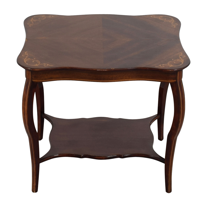 shop RJ Horner Antique End Table with Shelf RJ Horner End Tables