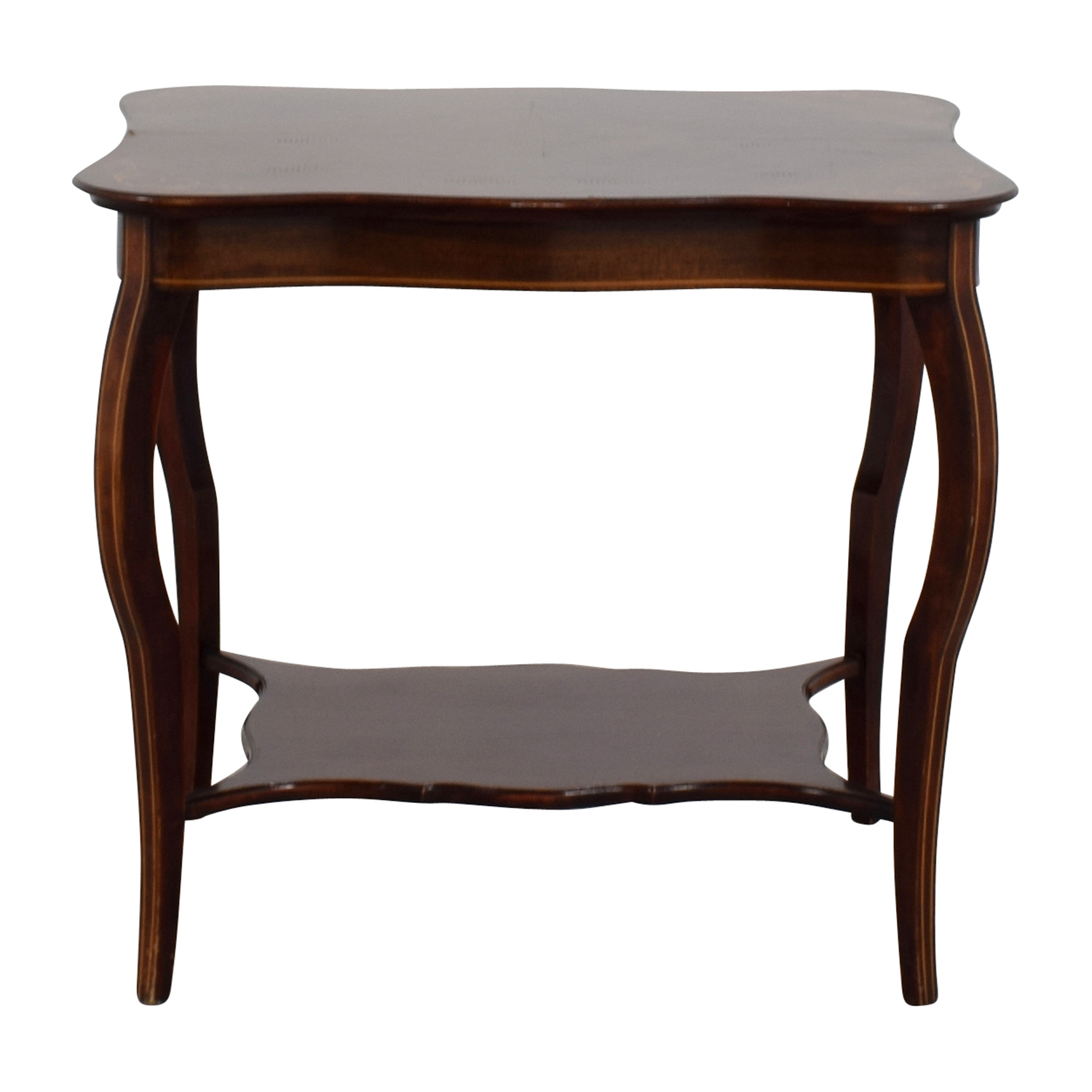 RJ Horner Antique End Table with Shelf / Tables