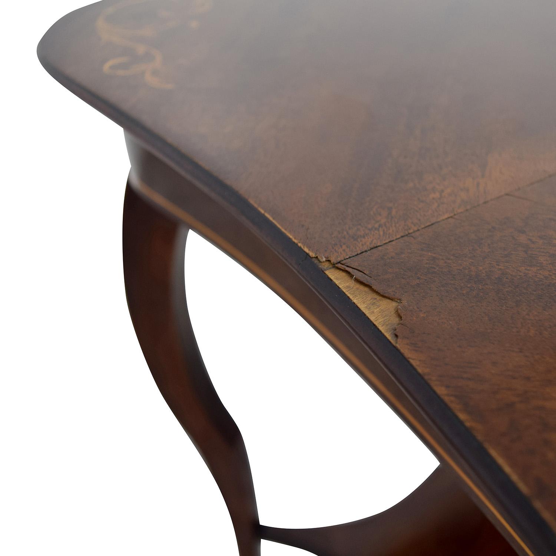 RJ Horner Antique End Table with Shelf RJ Horner
