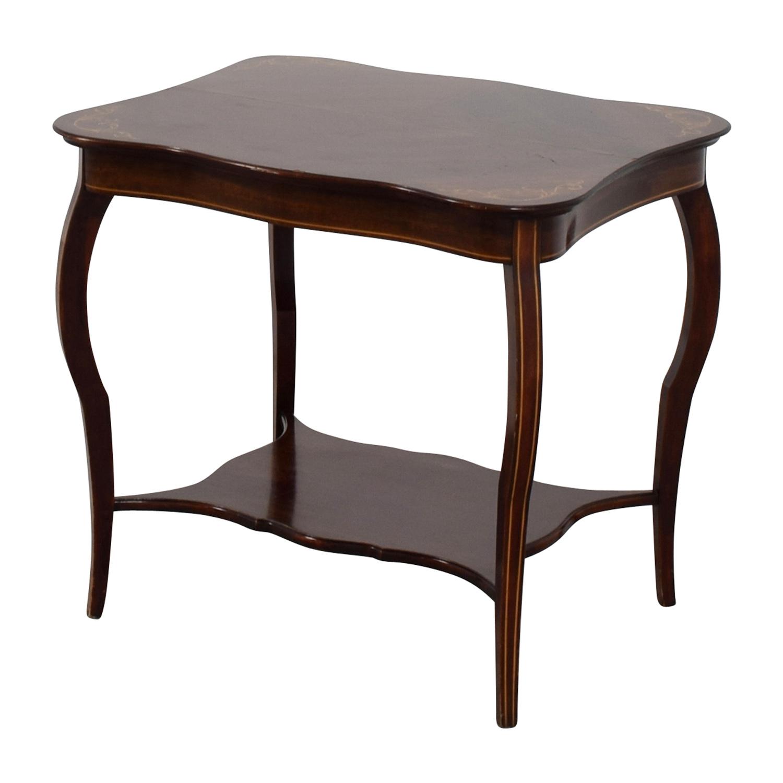 RJ Horner RJ Horner Antique End Table with Shelf second hand