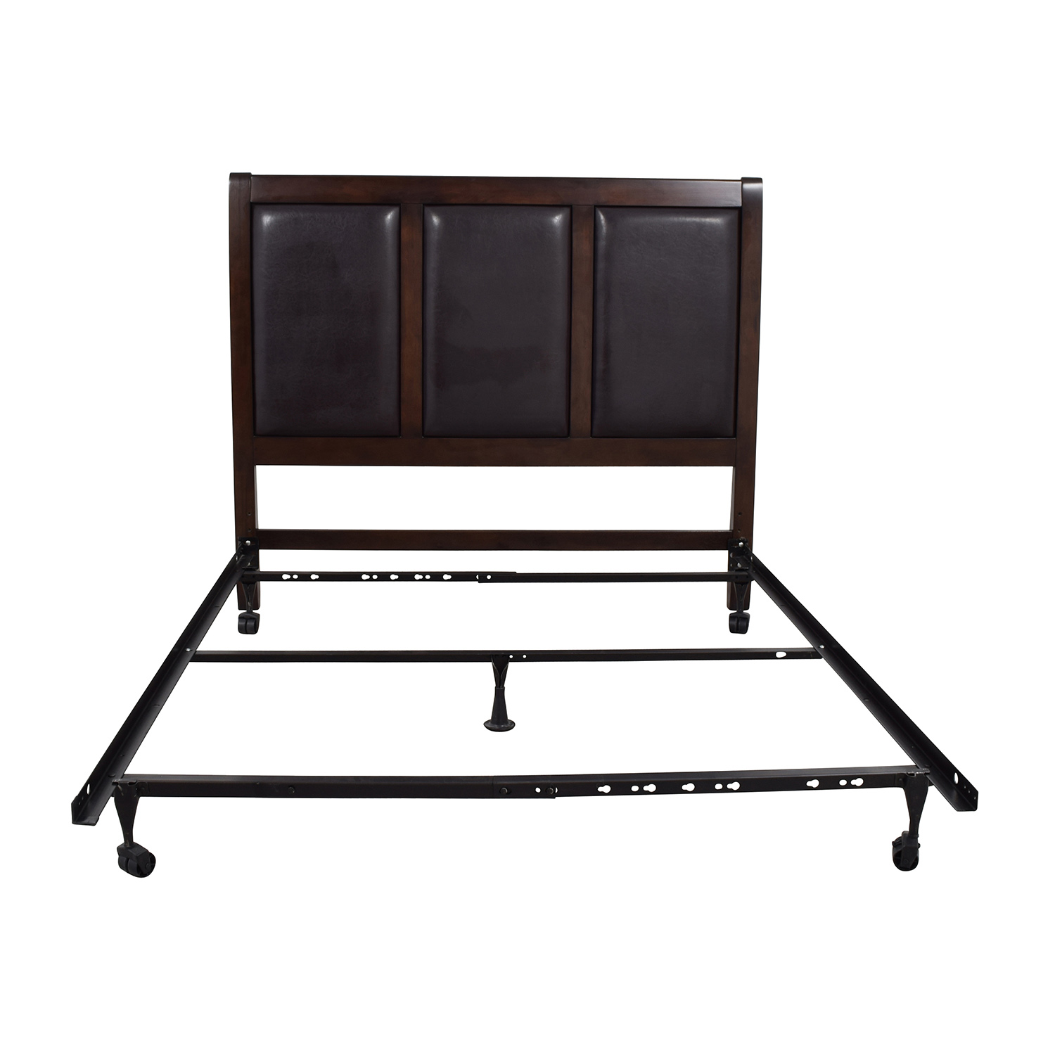 Lifestyle Solutions Lifestyle Solutions Leather Queen Bed Frame
