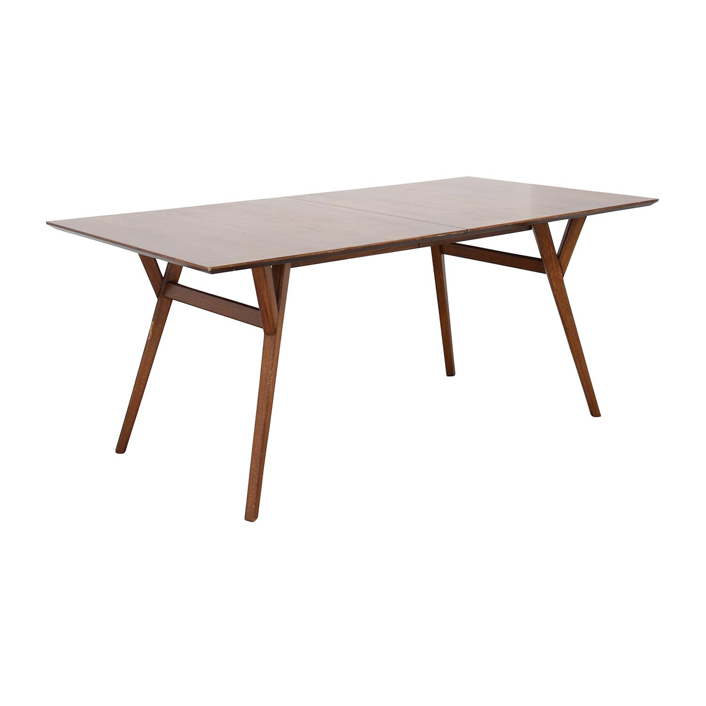 63 off west elm west elm mid century large expandable dining table tables. Black Bedroom Furniture Sets. Home Design Ideas