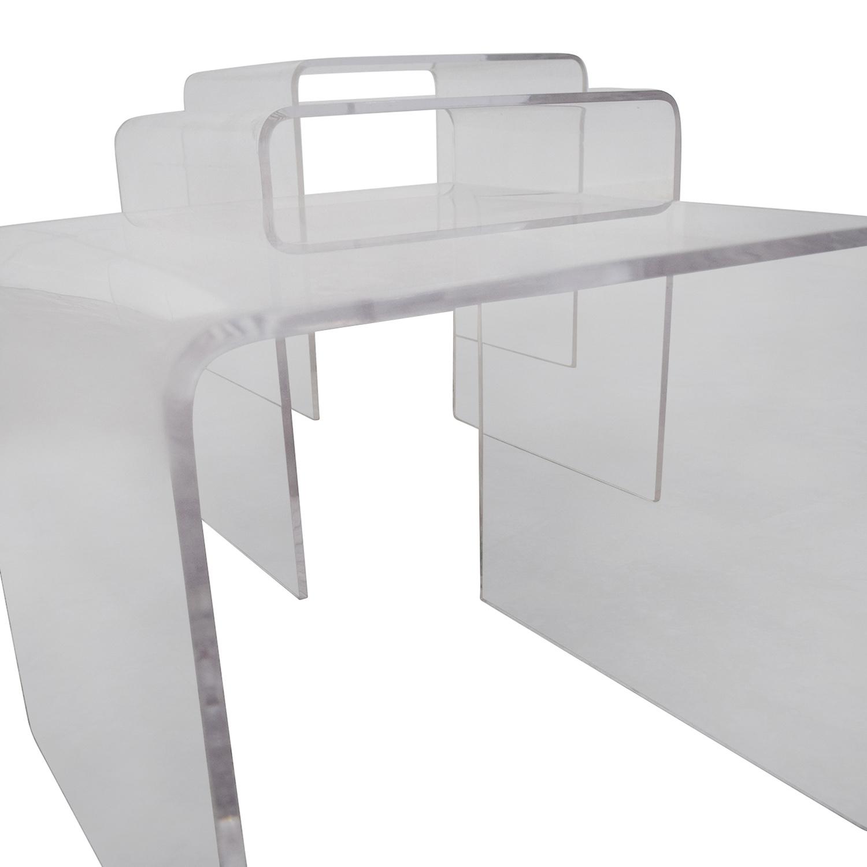 30% OFF   CB2 CB2 Three Piece Peekaboo Acrylic Nesting Table Set / Tables