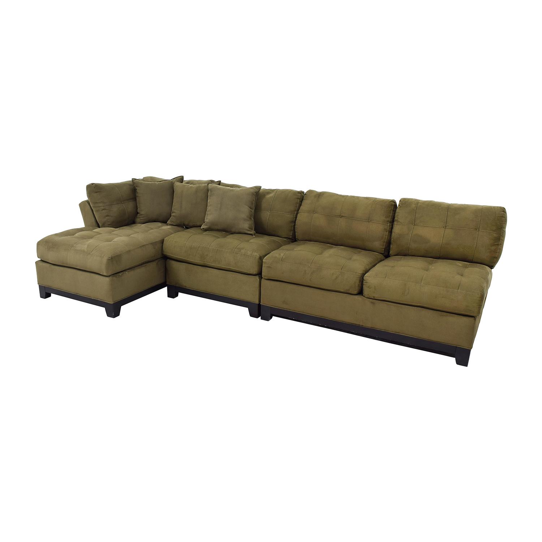 77 off cindy crawford cindy crawford metropolis three for 77 sectional sofa