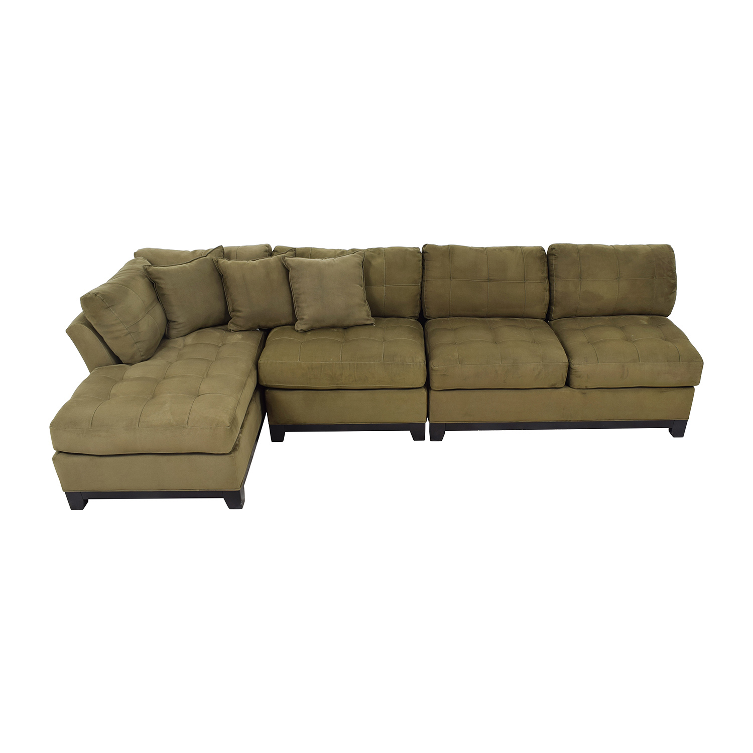 Cindy Crawford Cindy Crawford Metropolis Three Piece Green Sectional Sectionals
