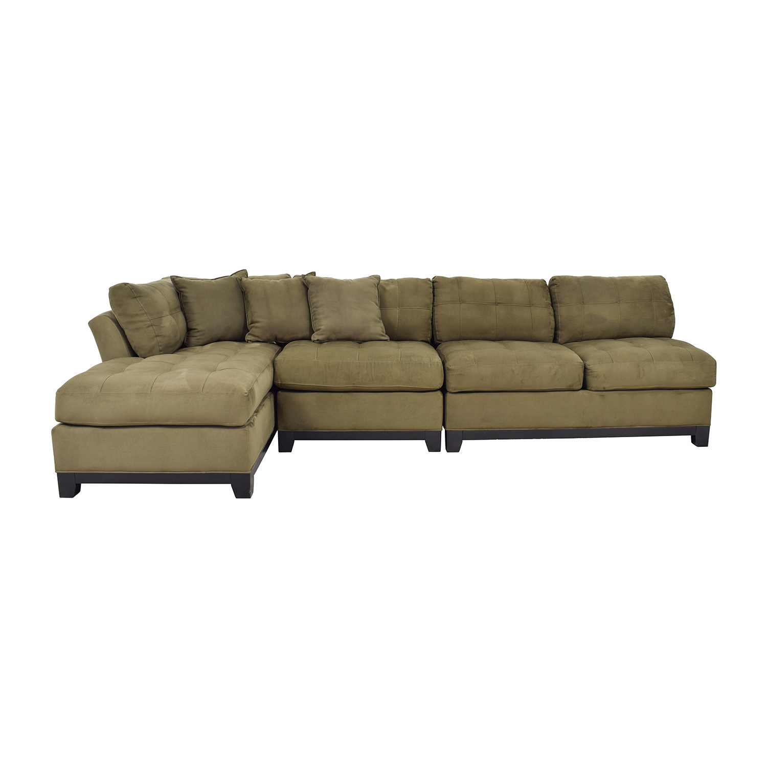 shop Cindy Crawford Metropolis Three Piece Green Sectional Cindy Crawford