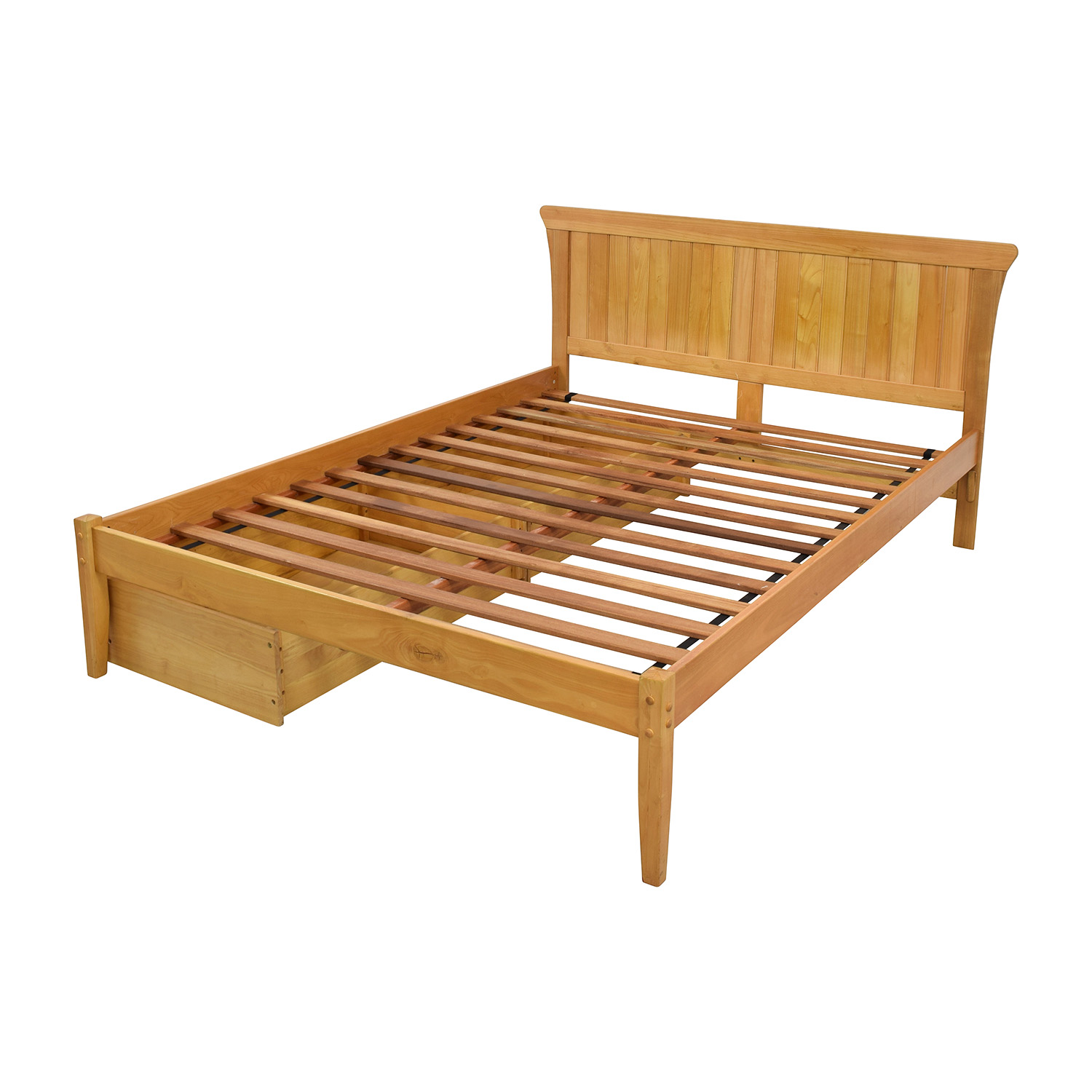 67 Off Solid Wood Bedframe With Storage Beds