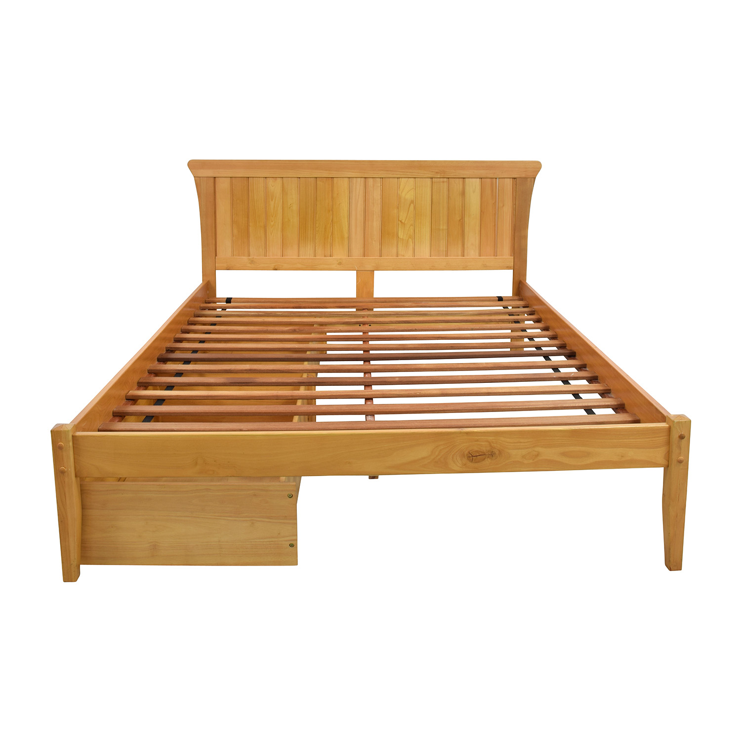 Solid Wood Bedframe with Storage for sale