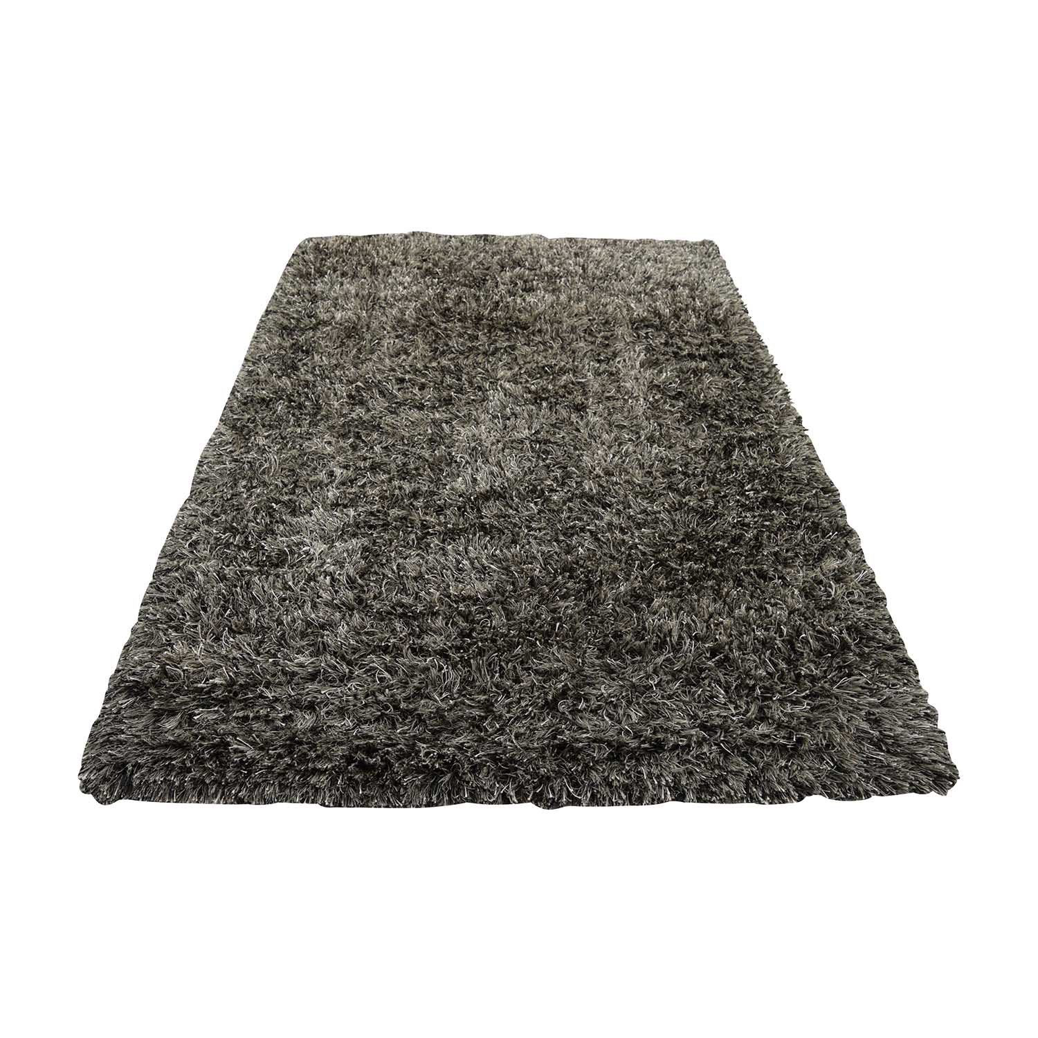CB2 CB2 Drake Grey Shag Rug On Sale