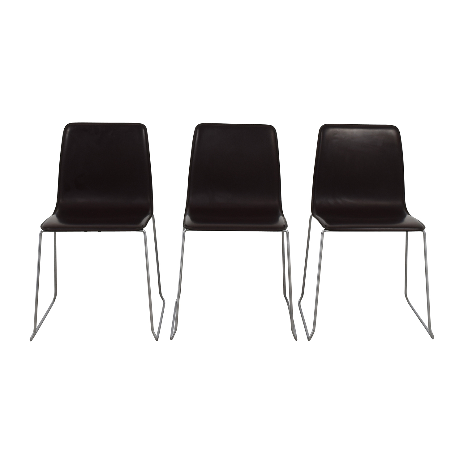ABC Home & Carpet ABC Home & Carpet Leather and Chrome Chairs, Set of Three coupon