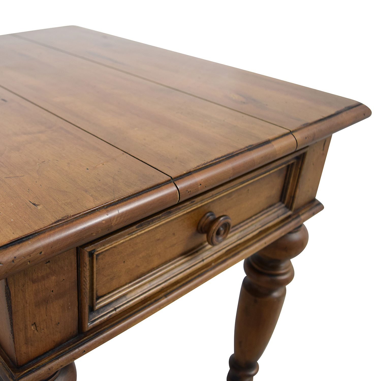 ... Ethan Allen Ethan Allen One Drawer End Table Brown ...