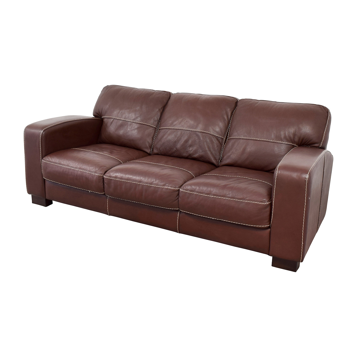 Great ... Bobs Furniture Bobs Furniture Antonio Brown Leather Sofa For Sale ...