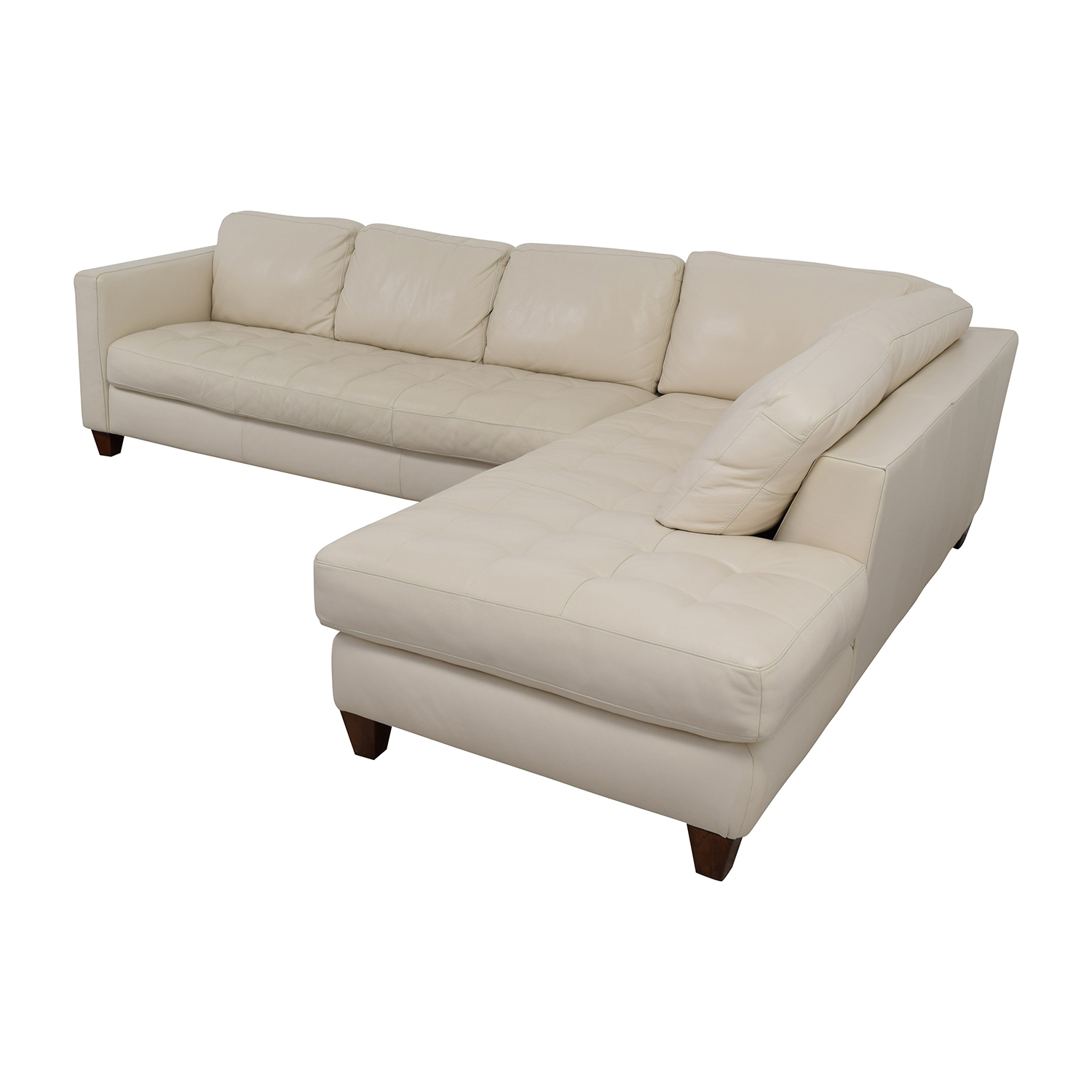 10 Best Collection Of Off White Leather Sofas: Macy's Macy's Milano White Leather Two Piece