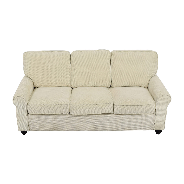 Bradford Bradford Beige Three-Cushion Sofa used