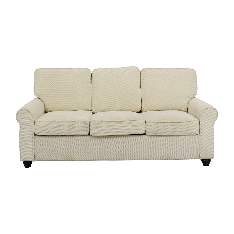 Bradford Bradford Beige Three-Cushion Sofa nyc