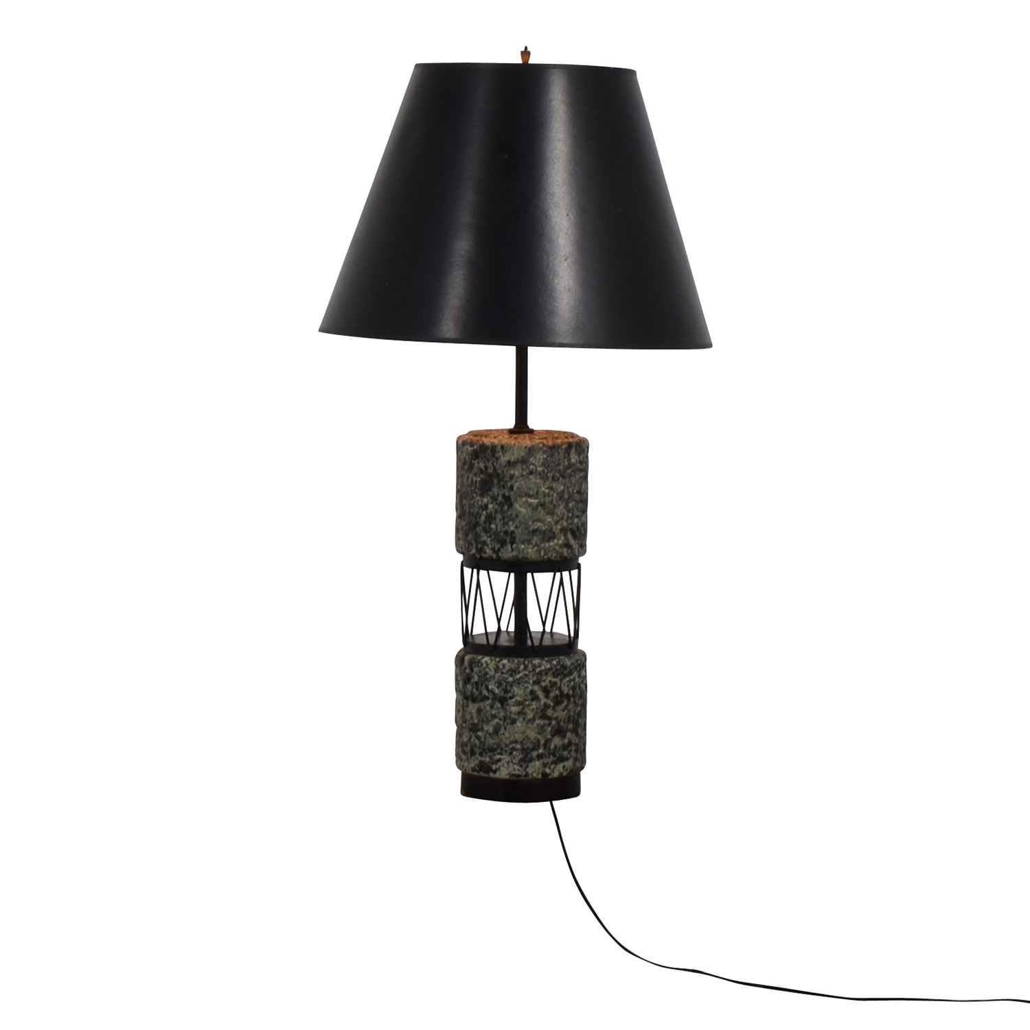 50's Black and White Table Lamp for sale
