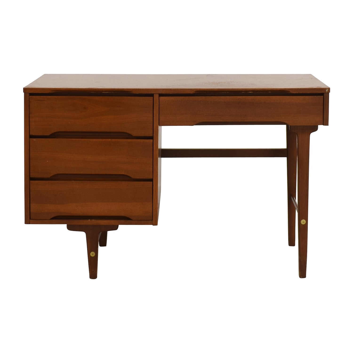 Solid Wood Four-Drawer Desk second hand