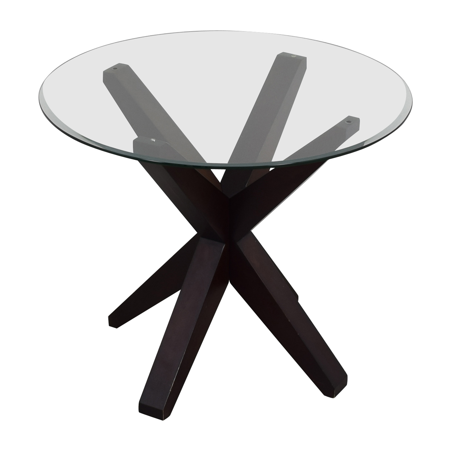 buy Round X Base Glass Table Dinner Tables