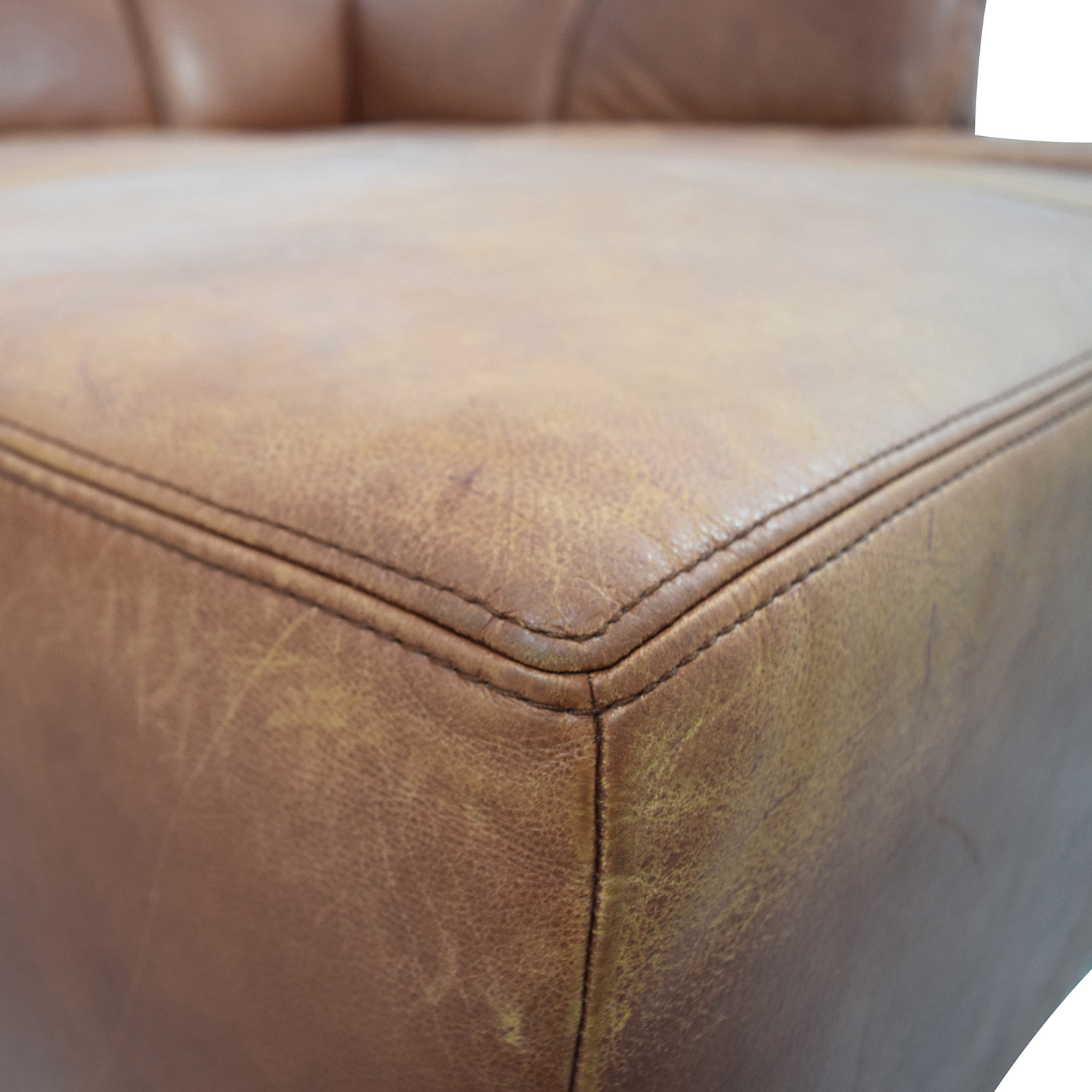 W. Schillig W. Schillig Leather Sectional with Ottoman Sofas