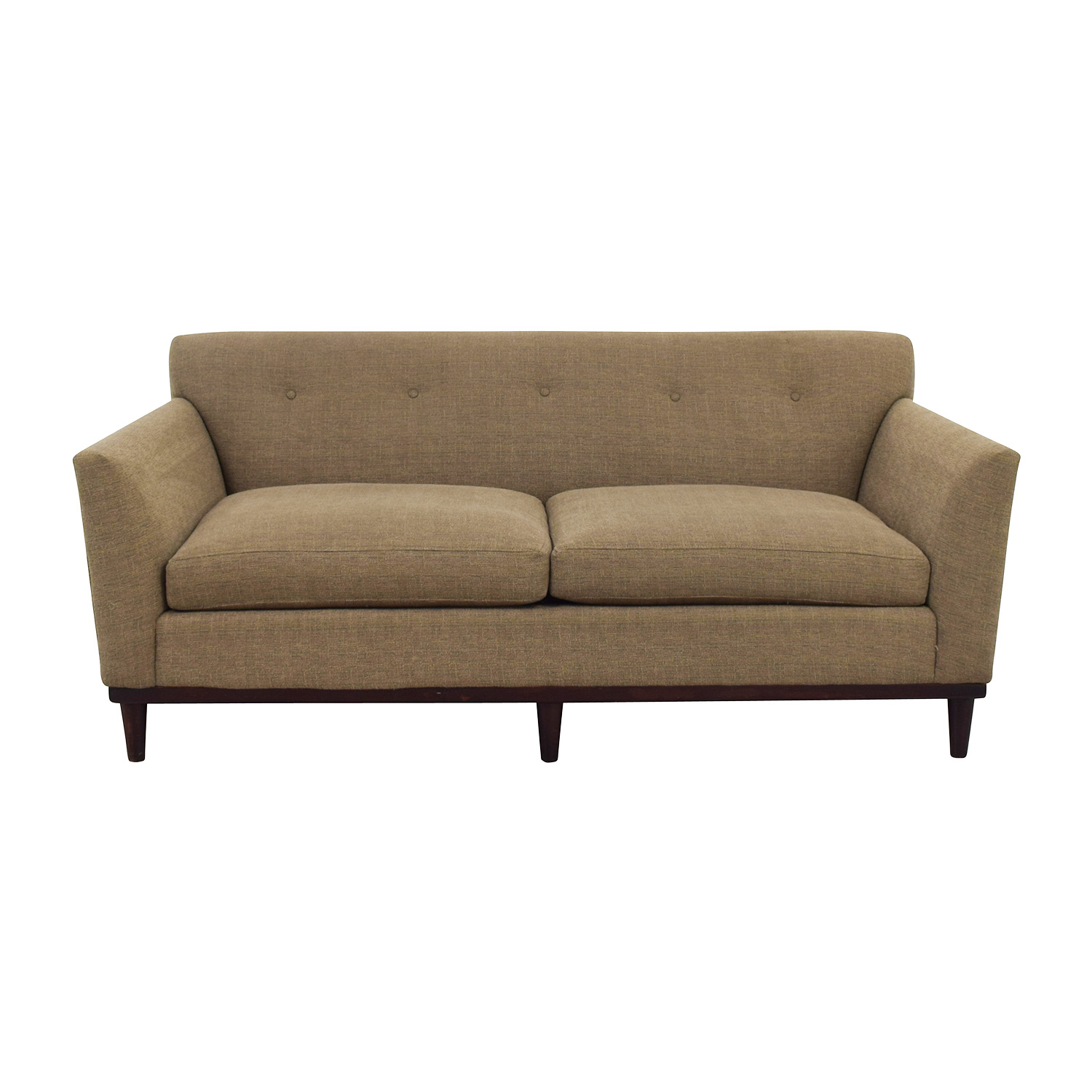 Brown tweed sofa benchcraft tanacra contemporary sofa for Leather and tweed sofa