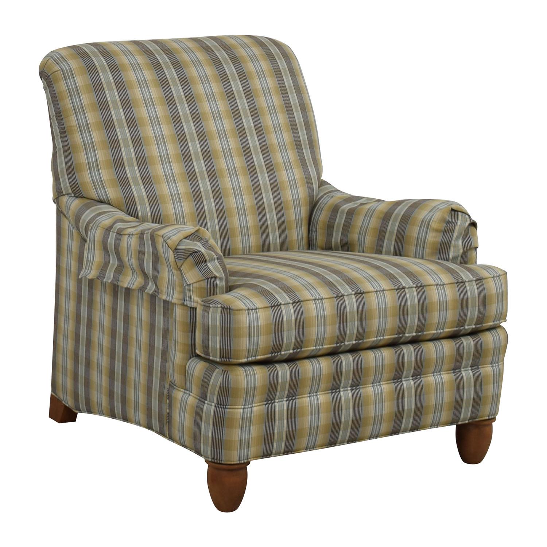 79% OFF - Ethan Allen Ethan Allen Plaid Arm Chair / Chairs