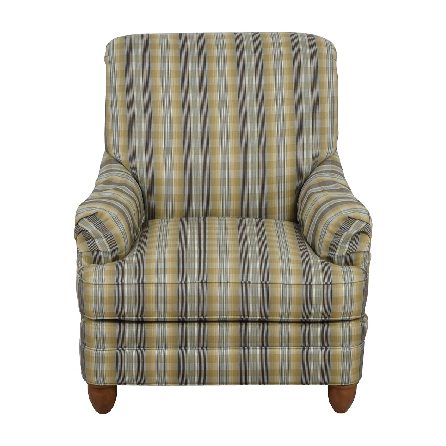 Ethan Allen Ethan Allen Plaid Arm Chair second hand