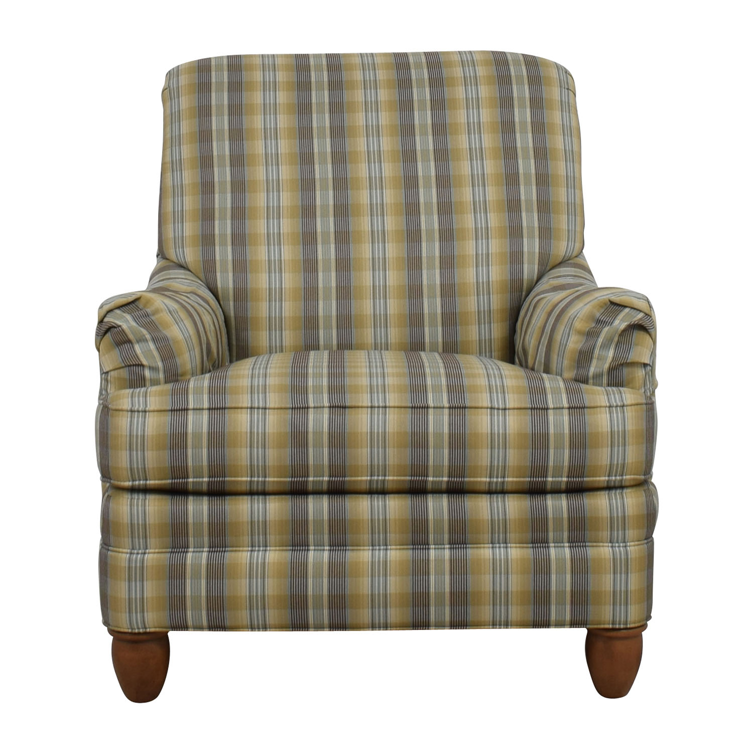 Ethan Allen Ethan Allen Plaid Arm Chair dimensions