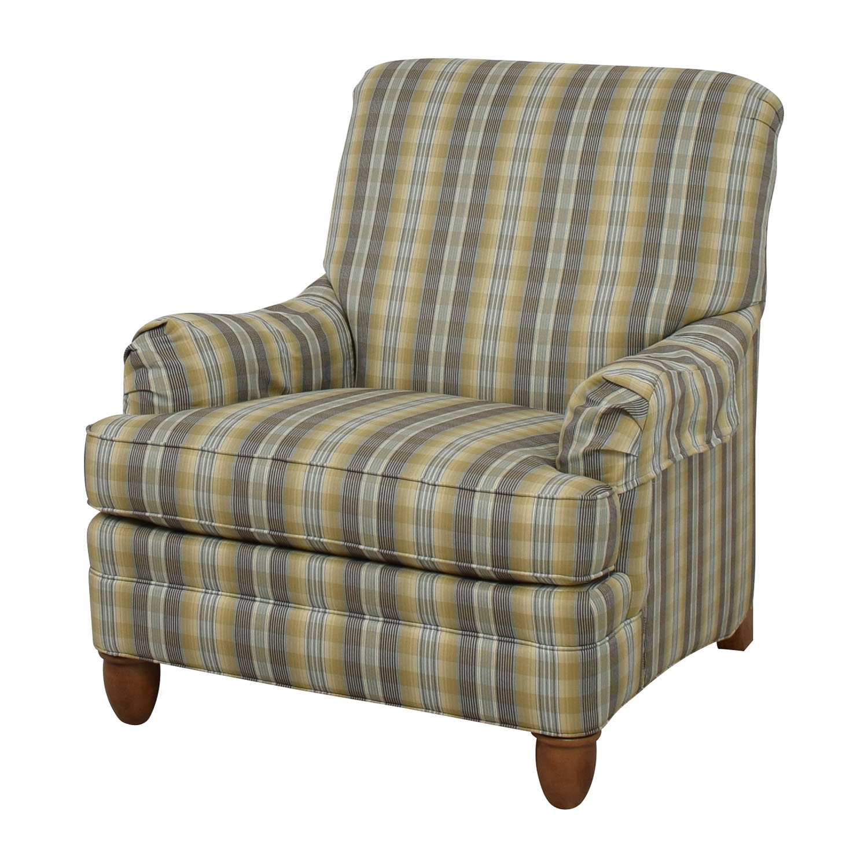 79 Off Ethan Allen Ethan Allen Plaid Arm Chair Chairs