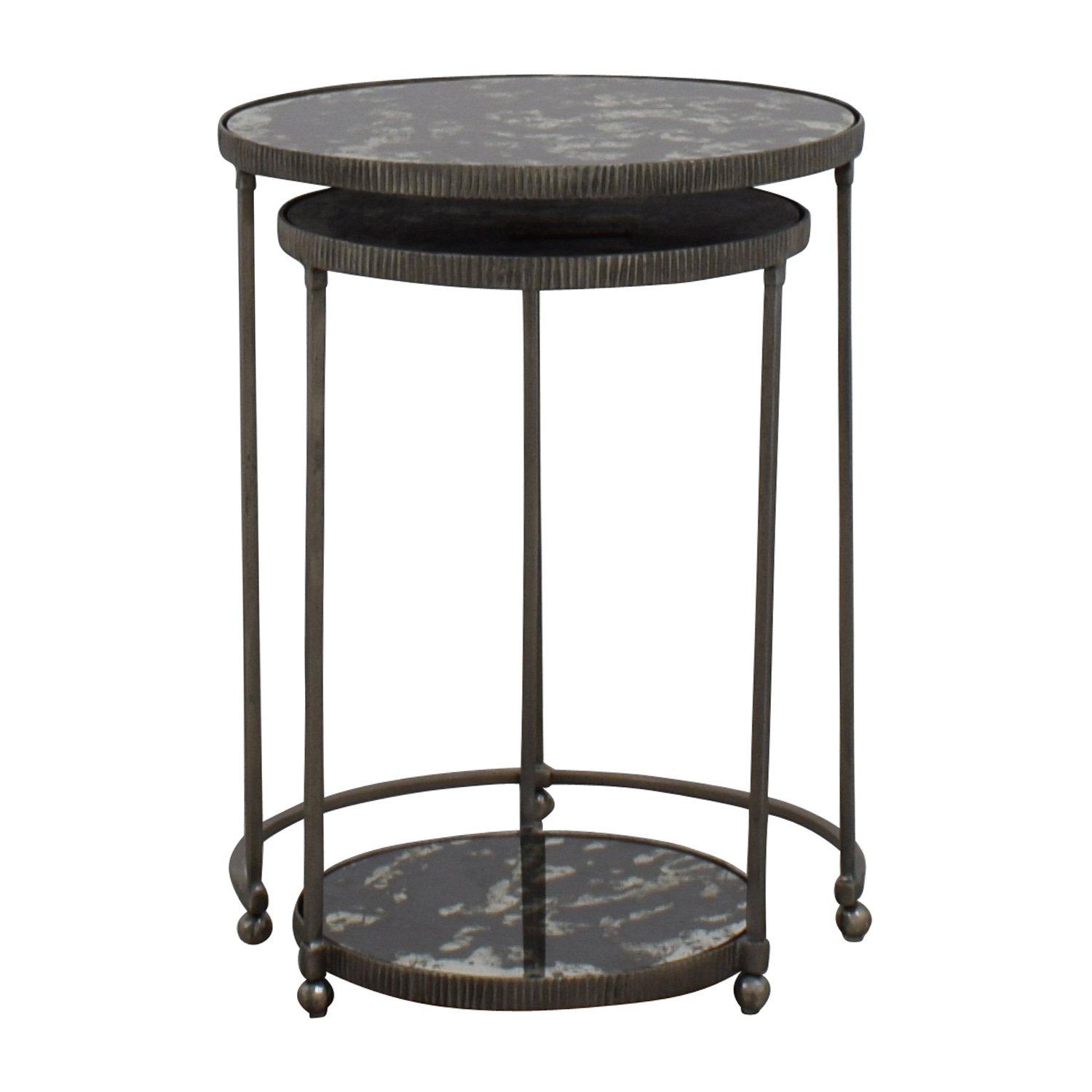 OFF Ethan Allen Ethan Allen Glass Nesting Tables Tables