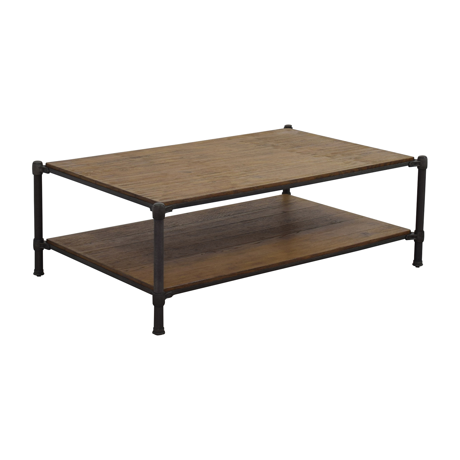 83 Off Ethan Allen Ethan Allen Wood And Metal Coffee Table Tables