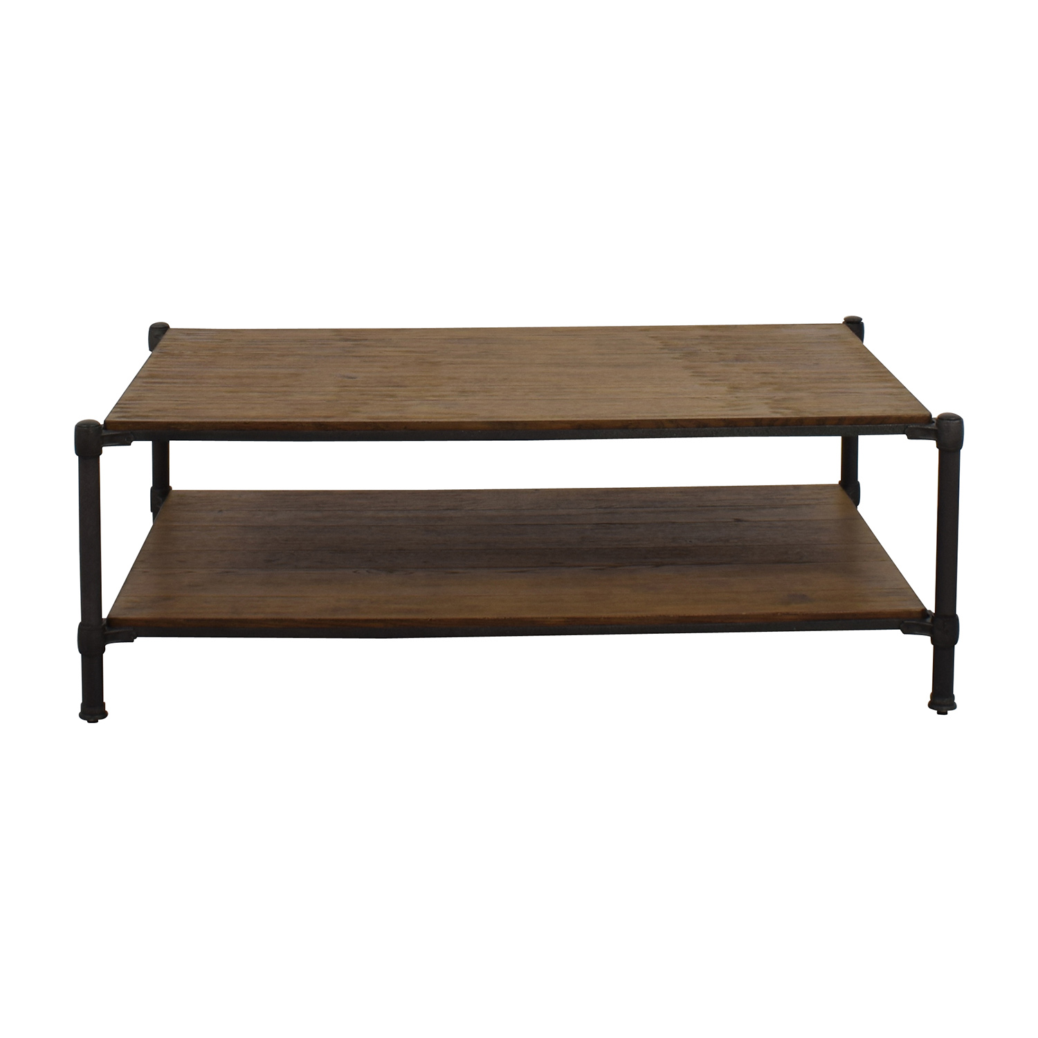Ethan Allen Wood and Metal Coffee Table sale