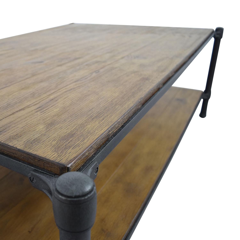 Ethan Allen Rectangular Coffee Tables: Ethan Allen Ethan Allen Wood And Metal Coffee