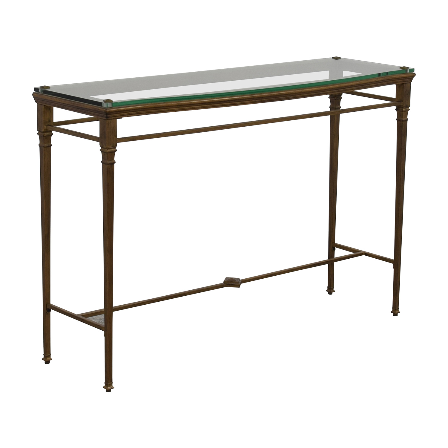 44 Off Pier 1 Pier 1 Foyer Metal And Glass Entry Table
