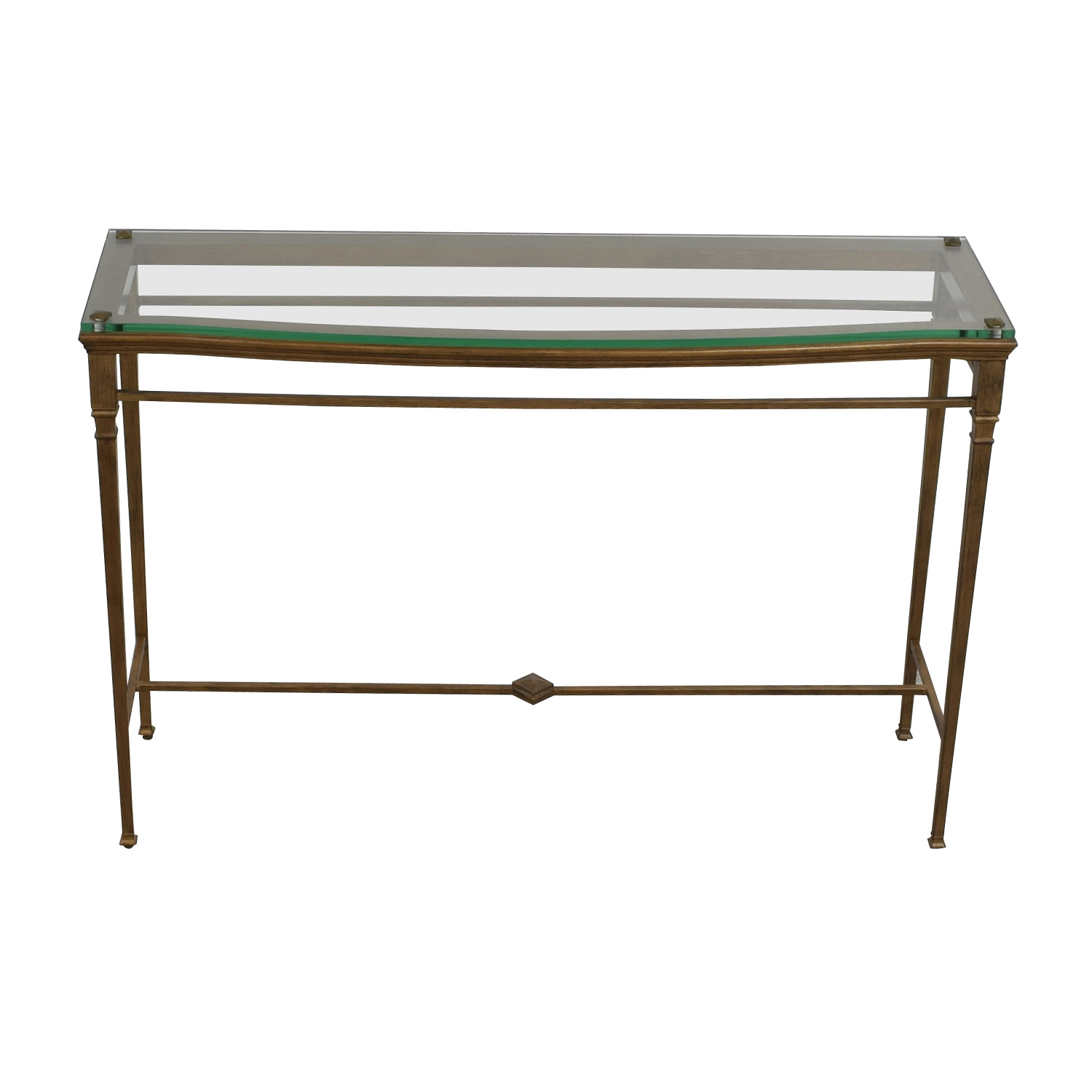 Pier 1 Foyer Metal and Glass Entry Table sale