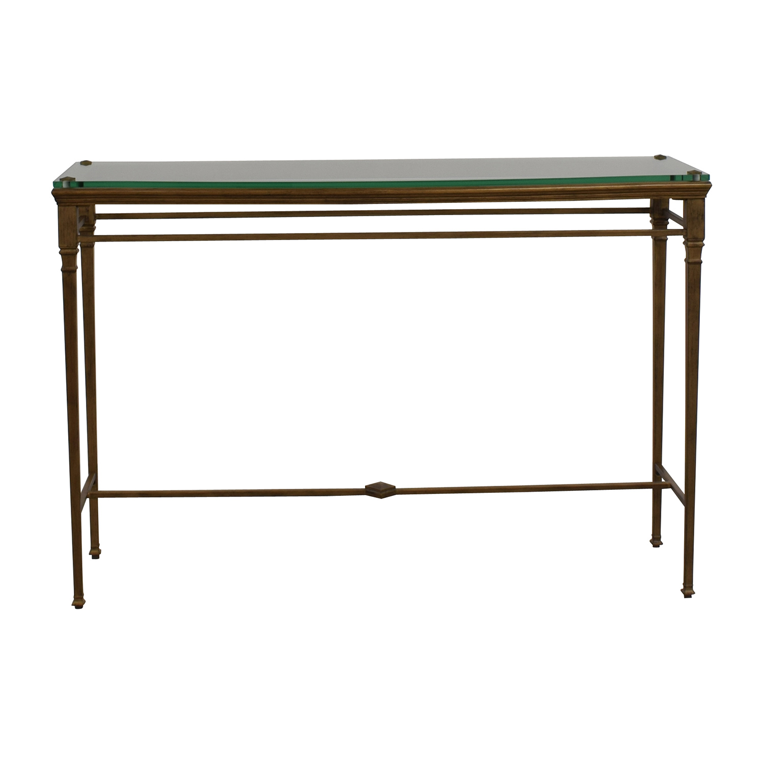 Pier 1 Pier 1 Foyer Metal And Glass Entry Table Second Hand ...
