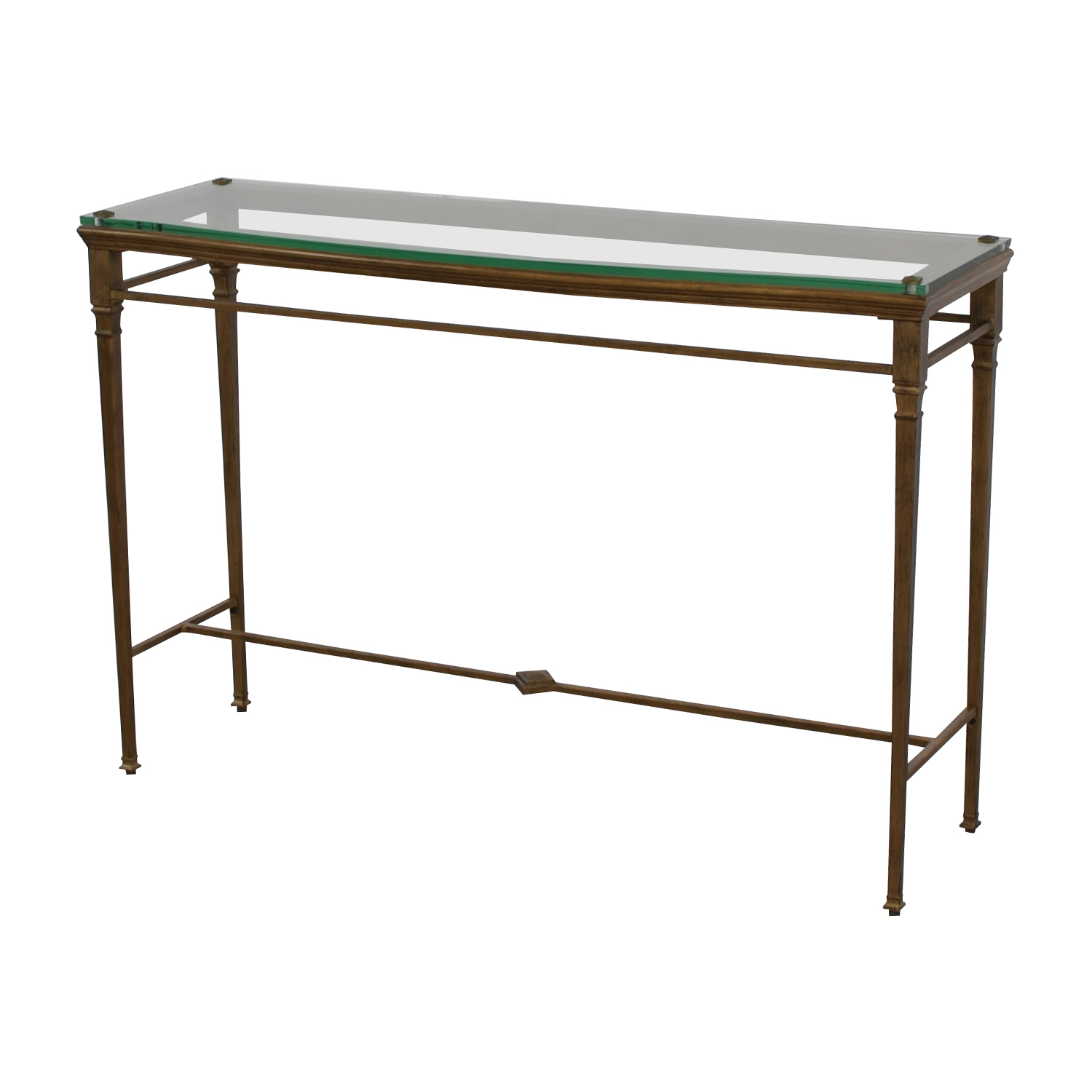 Foyer Table Used : Off pier foyer metal and glass entry table