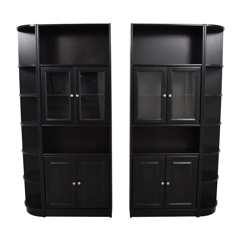 Black Wooden Bookcases used