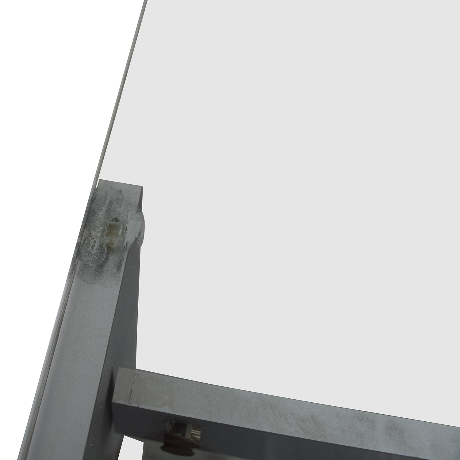 buy Silver and Glass TV Stand Storage