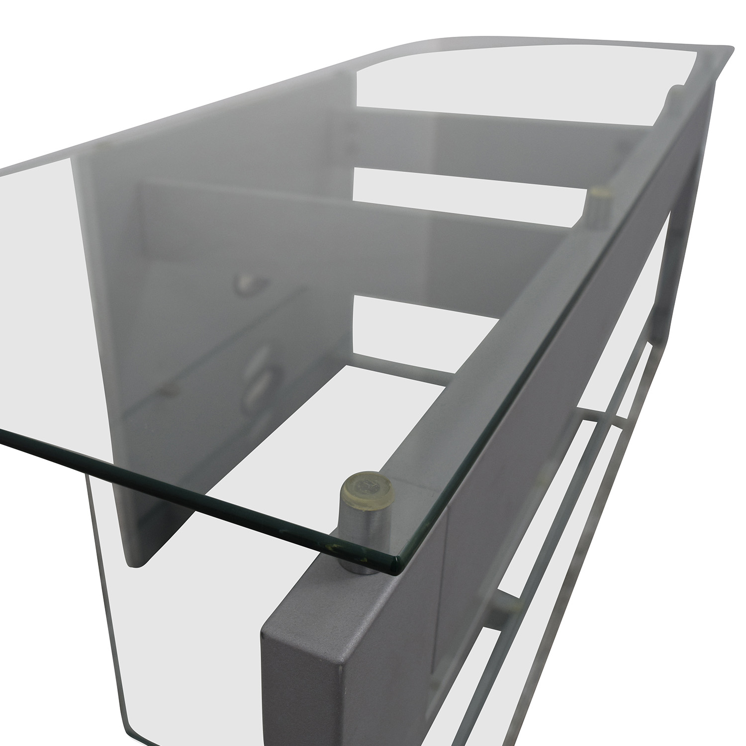 buy Silver and Glass TV Stand online