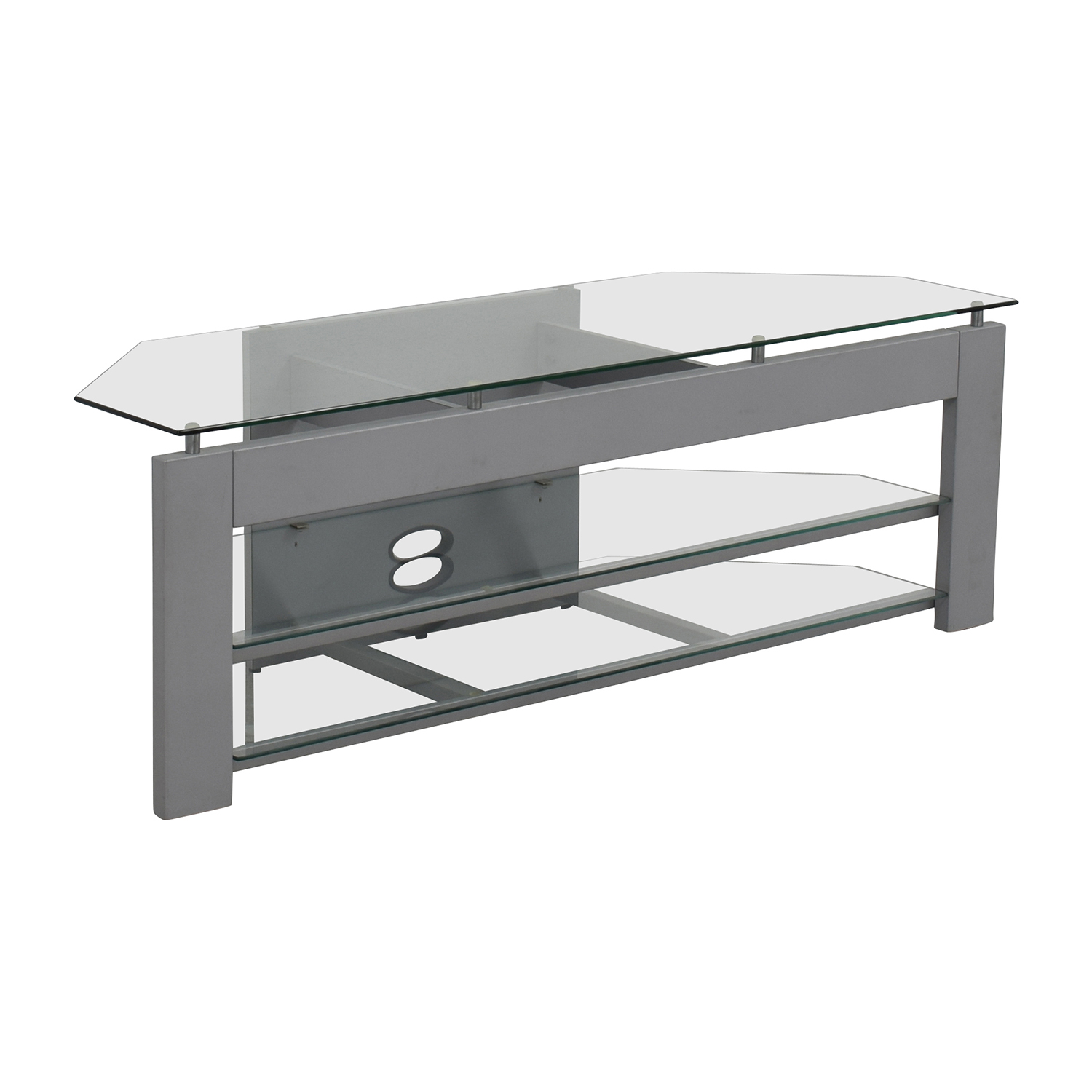 Silver and Glass TV Stand nj