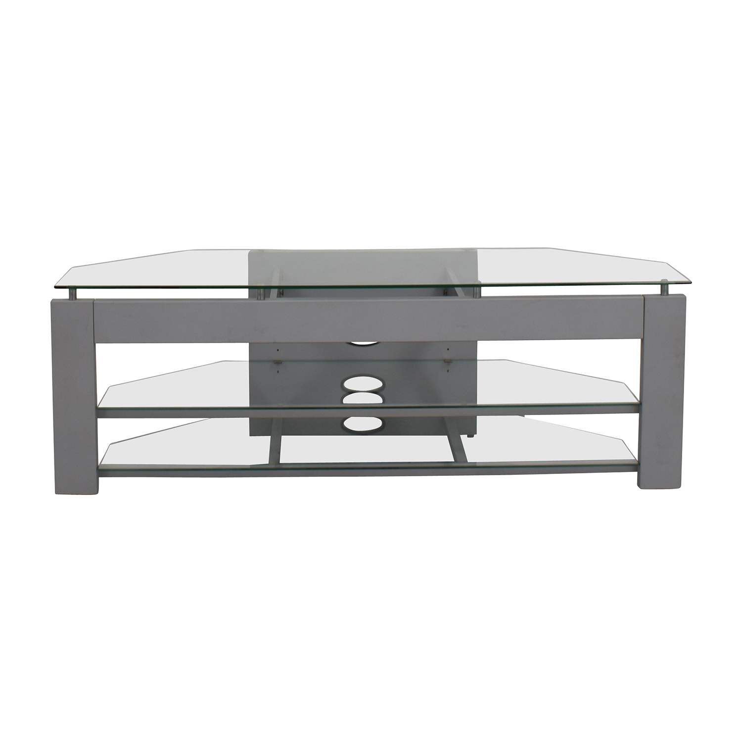 Silver And Gl Tv Stand