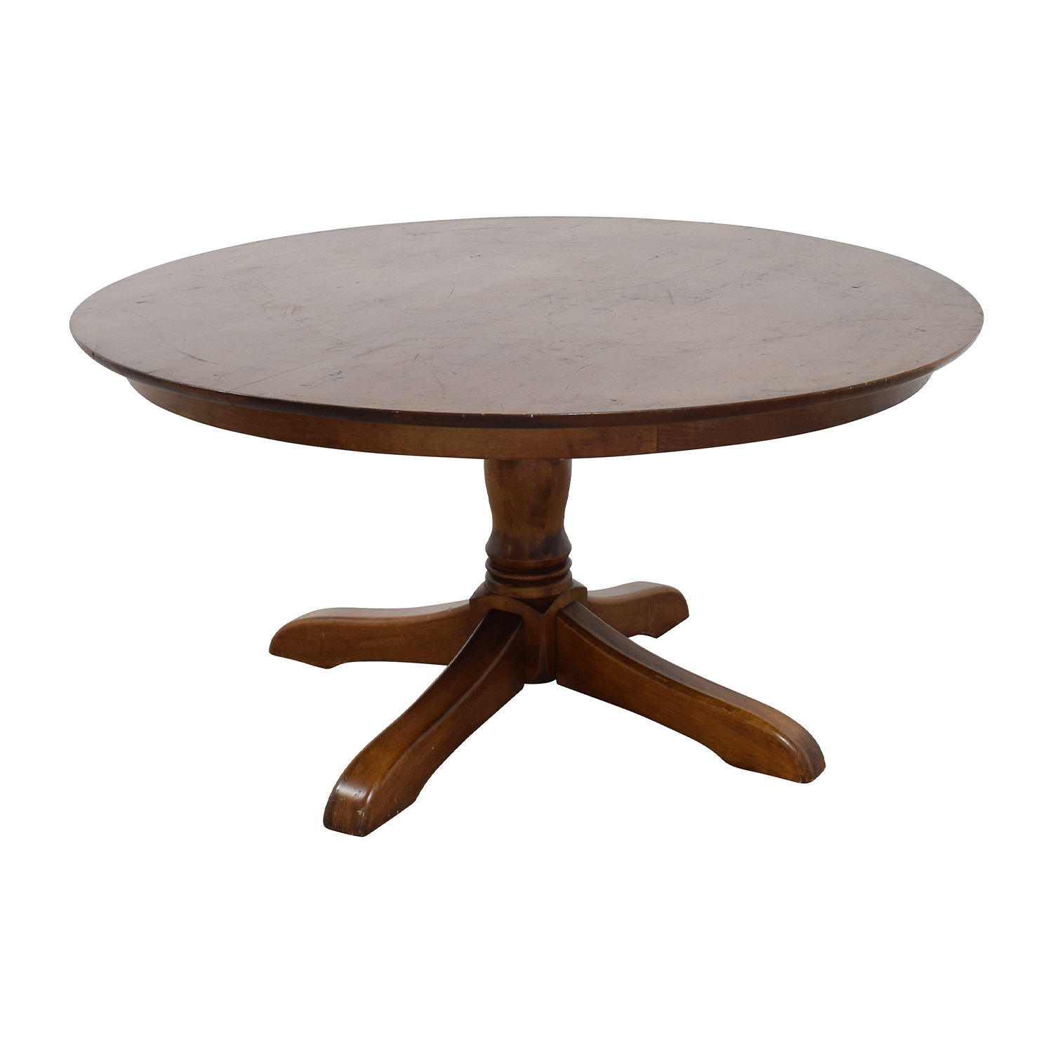 71 off abc home abc home mid century round dining table tables. Black Bedroom Furniture Sets. Home Design Ideas