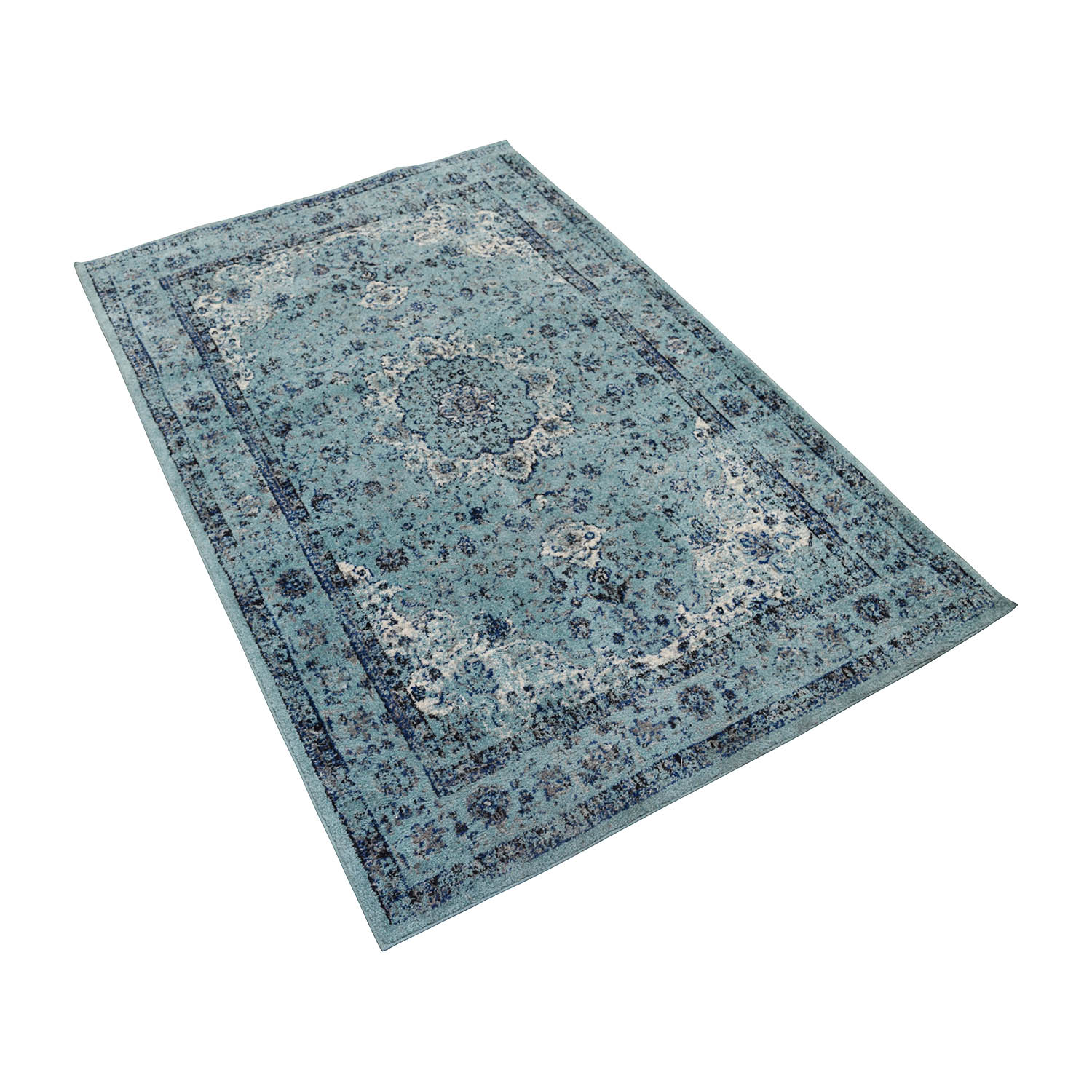 Safavieh Safavieh Turquoise Navy and White Rug on sale
