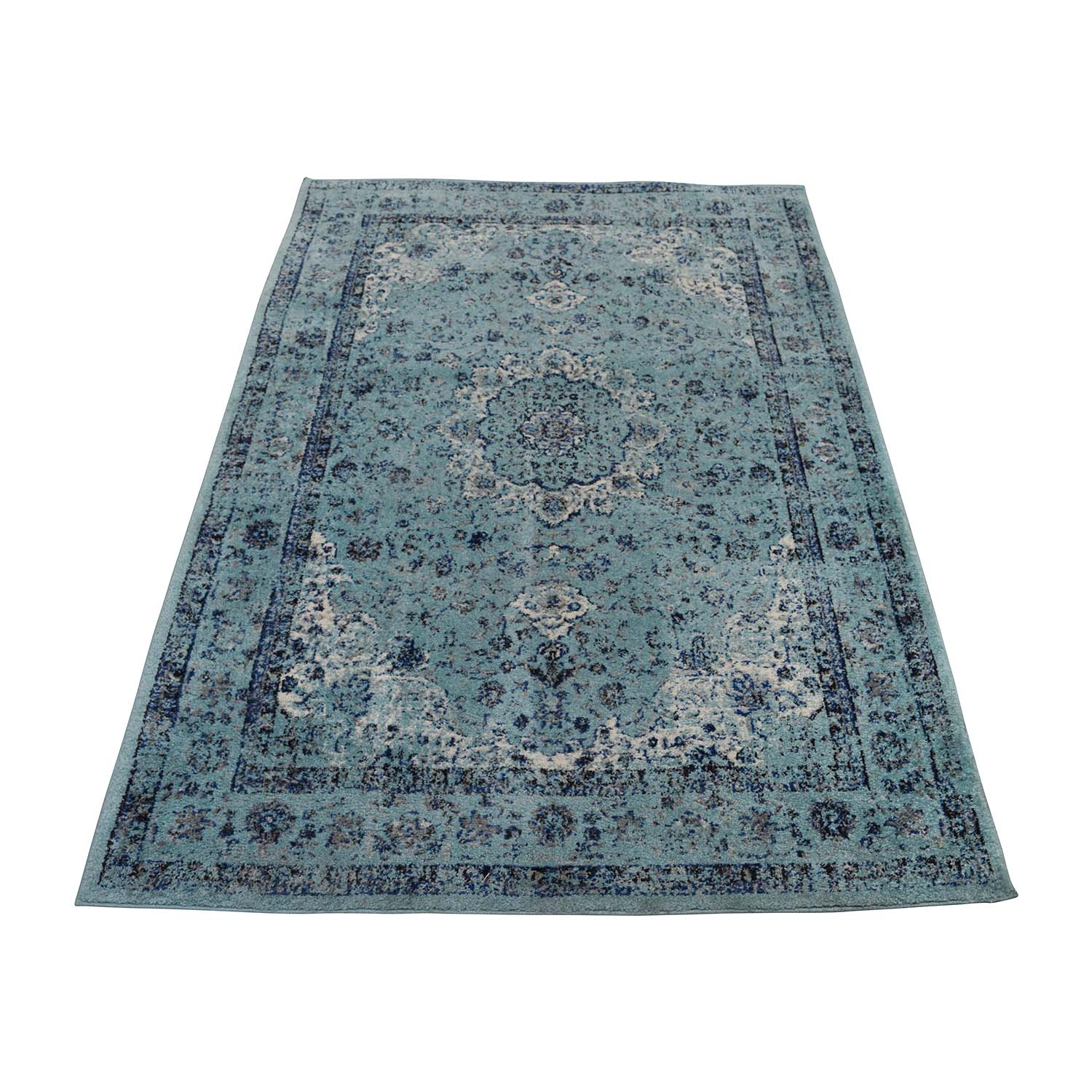 Safavieh Safavieh Turquoise Navy and White Rug for sale