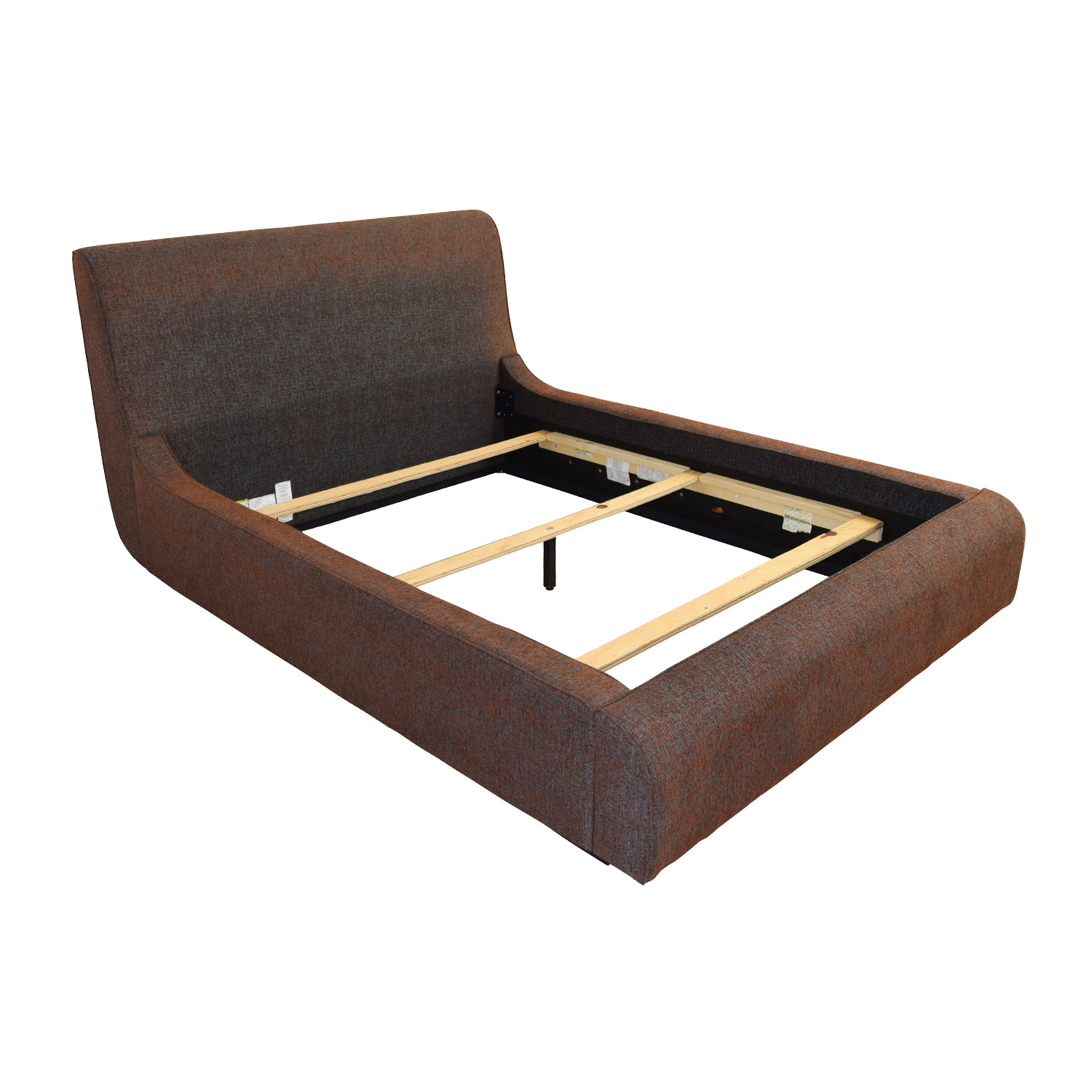 Queen Platform Fabric Bed