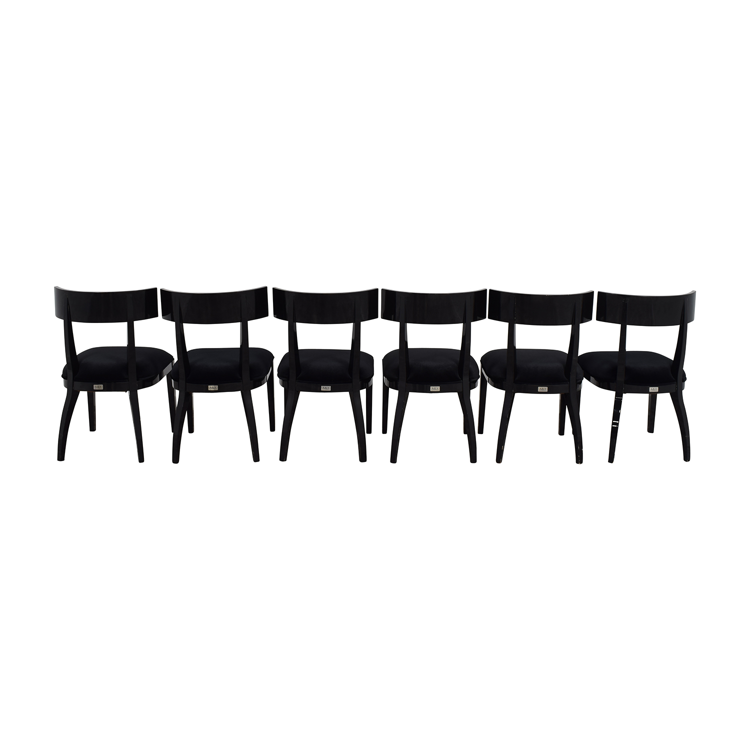 A & X Casa Luxury Collection Art Deco Black Dining Chairs Chairs