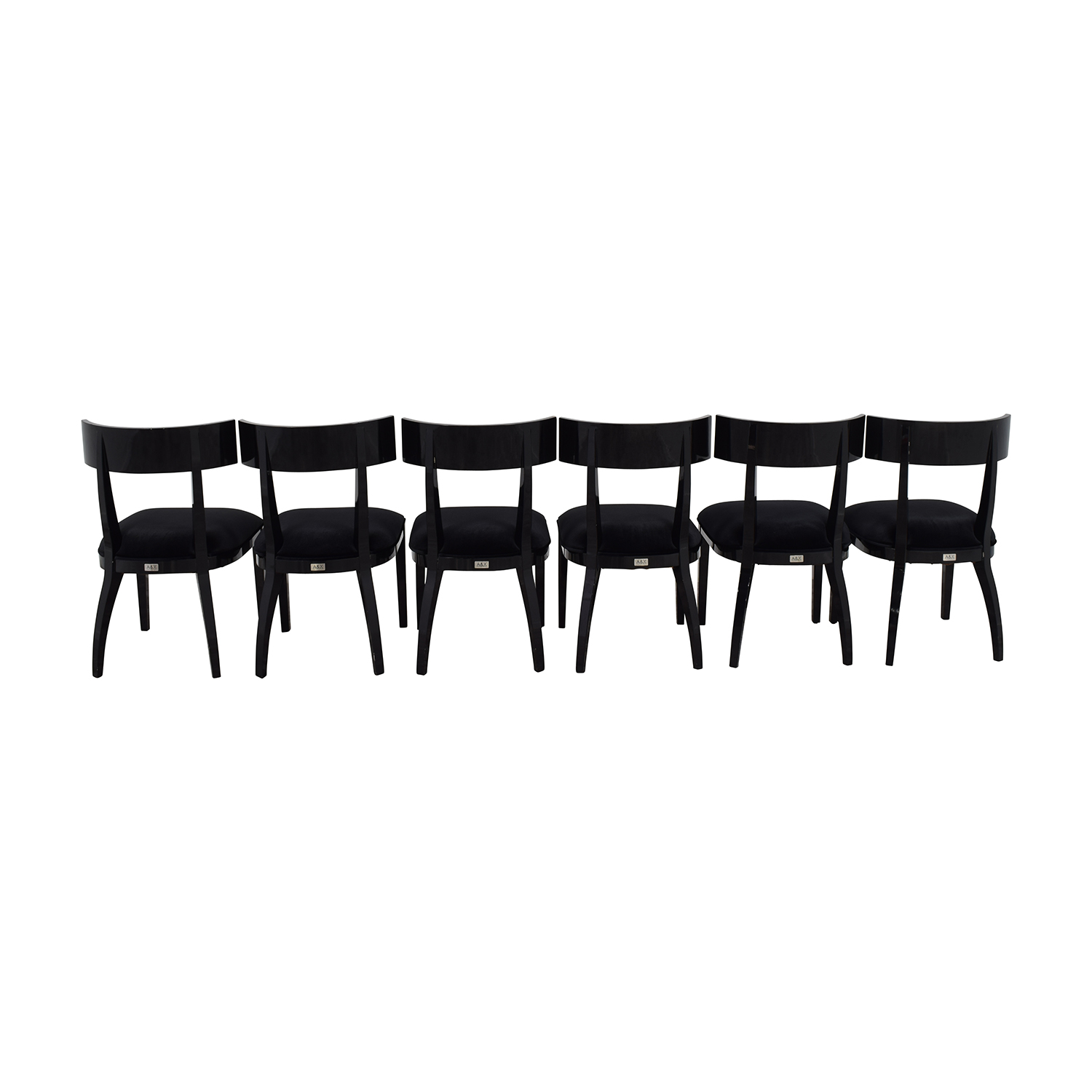 A & X Casa Luxury Collection Art Deco Black Dining Chairs second hand